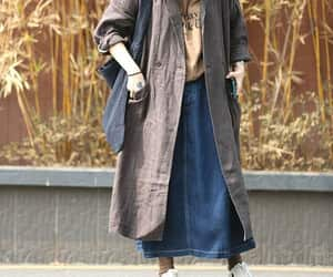 plus size clothing, oversized coat, and women gown image