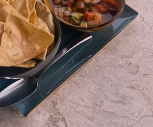 chips, dip, and mexican image