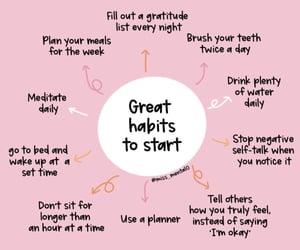 gratitude, meditate, and habits image