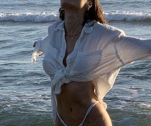 beach, sea, and shirt image