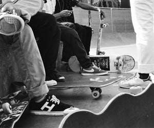 black and white, chill, and hanging out image