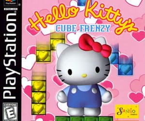 hello kitty, playstation, and ps1 cover art image