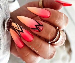 nail art, nails, and pink nails image