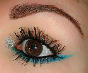 blue, eyeliner, and eyes image
