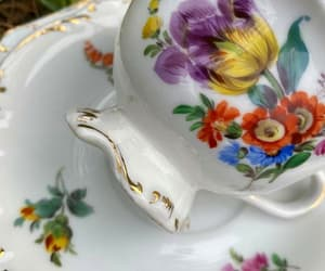 cottage, summer, and tea cups image
