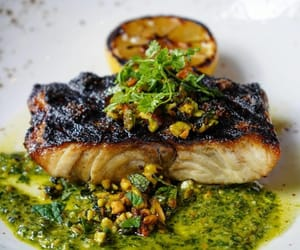 fish, gato nyc, and grilled wild striped bass image
