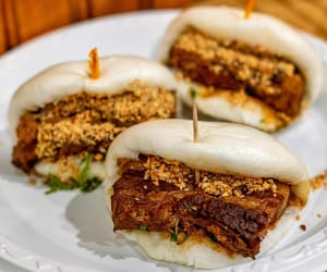 chinese food, sandwich, and asian food image
