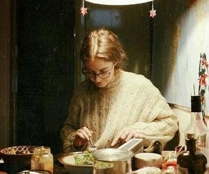 girl, vintage, and food image