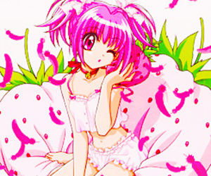 adorable, pink, and strawberry image