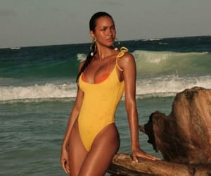 hot body, yellow swimsuit, and model image