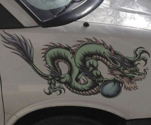 aesthetic, dragon, and car image