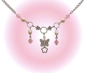 necklace and pink image