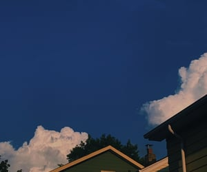 aesthetic, blue, and blue sky image