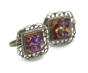 etsy, pastsplendors, and art glass earrings image