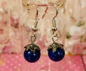 etsy, dangle earrings, and blue earrings image