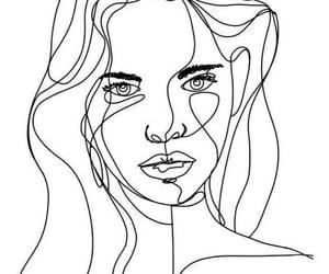 drawing, girl, and woman image