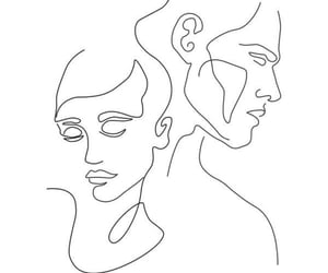 man, white, and one line image