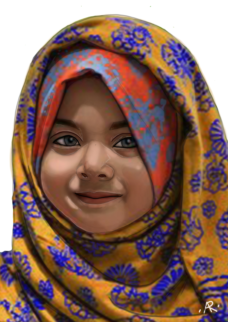 article and muslim child image