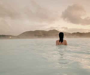 blue lagoon, travel destinations, and iceland image