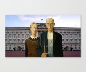 american gothic, Buckingham palace, and home decor image