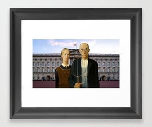 american gothic, Buckingham palace, and queen elizabeth image