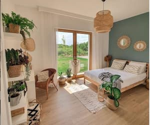 bedroom design, beds, and home furnishings image