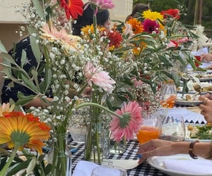 dinner, flowers, and wow image