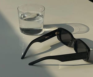 drink, glass, and sunglasses image