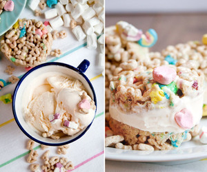 food, ice cream, and lucky charms image