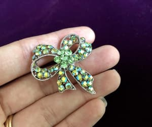 etsy, green bow, and green jewelry image