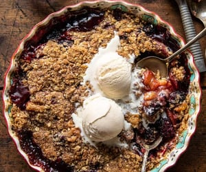 blackberry, crumble, and dessert image