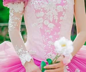 dress, fantasy, and pink image
