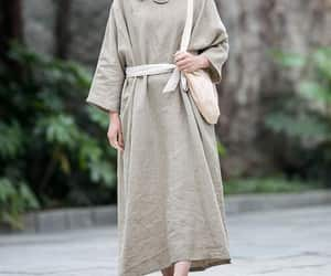 kaftan, plus size dress, and minimalist dress image