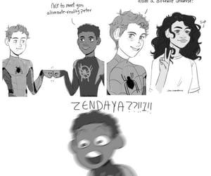 comics, spiderman, and miles morales image