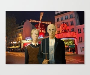 american gothic, canvas prints, and home decor image