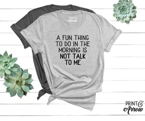funny shirt, i'm so tired, and coffee before talkie image