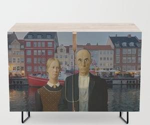 art, copenhagen, and american gothic image