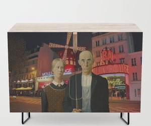 american gothic, funny art, and paris image