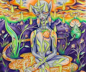 alien, art, and beautiful image