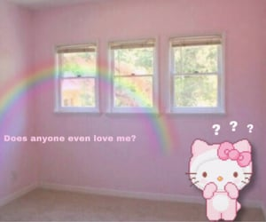 alone, HelloKitty, and sad image