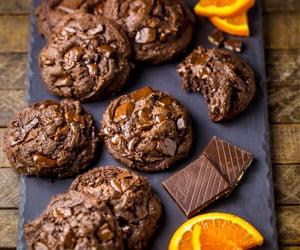 chocolate, بسكويت, and برتقال image