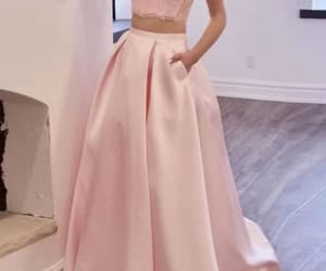 evening dress, gowns, and pink prom dress image