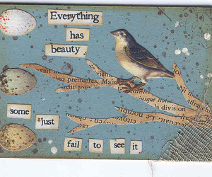 beauty, bird, and text image