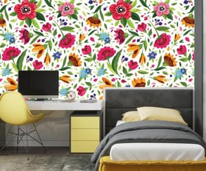 etsy, floral stickers, and colourful wallpaper image