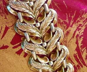 etsy, signed, and gold tone bracelet image