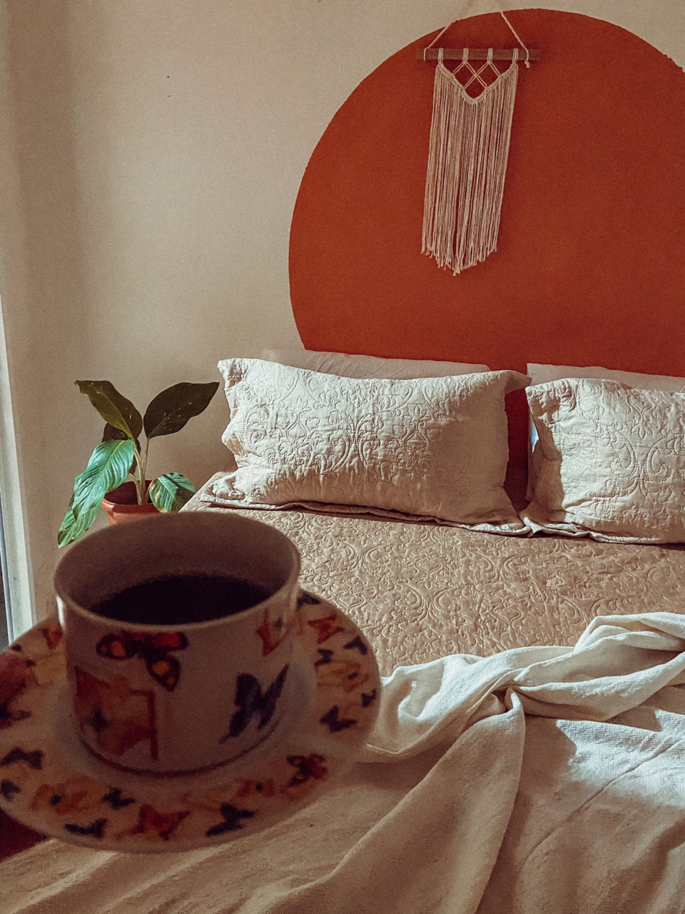 bedroom, coffe, and cozy image