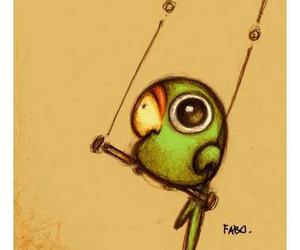cute, parrot, and bird image