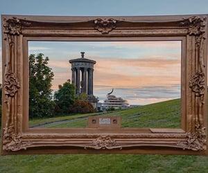edinburgh, scotland, and sunset image