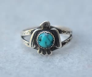 etsy, turquoise ring, and style vintage image