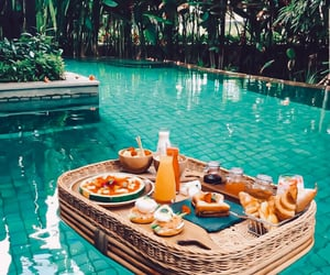 breakfast, paradise, and tropical image